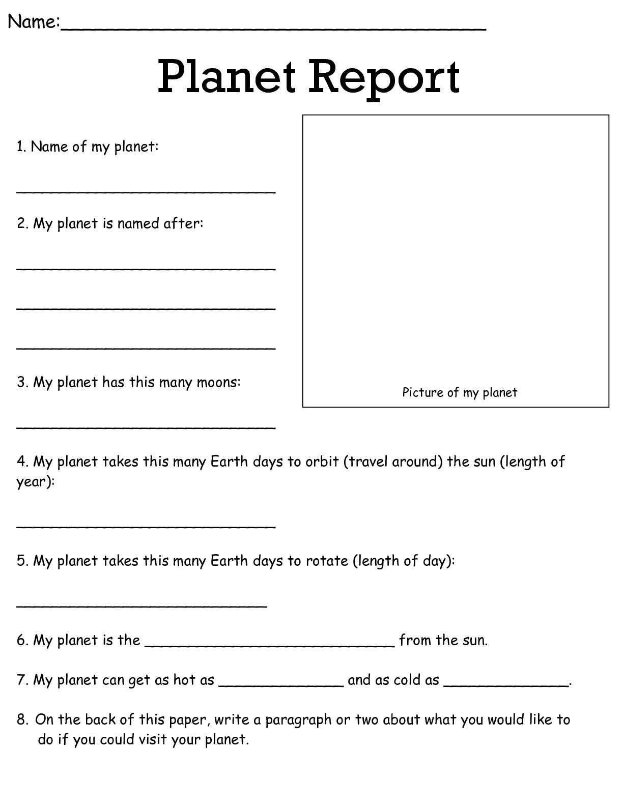 Job Worksheets 5th &6th | Science Worksheets Science