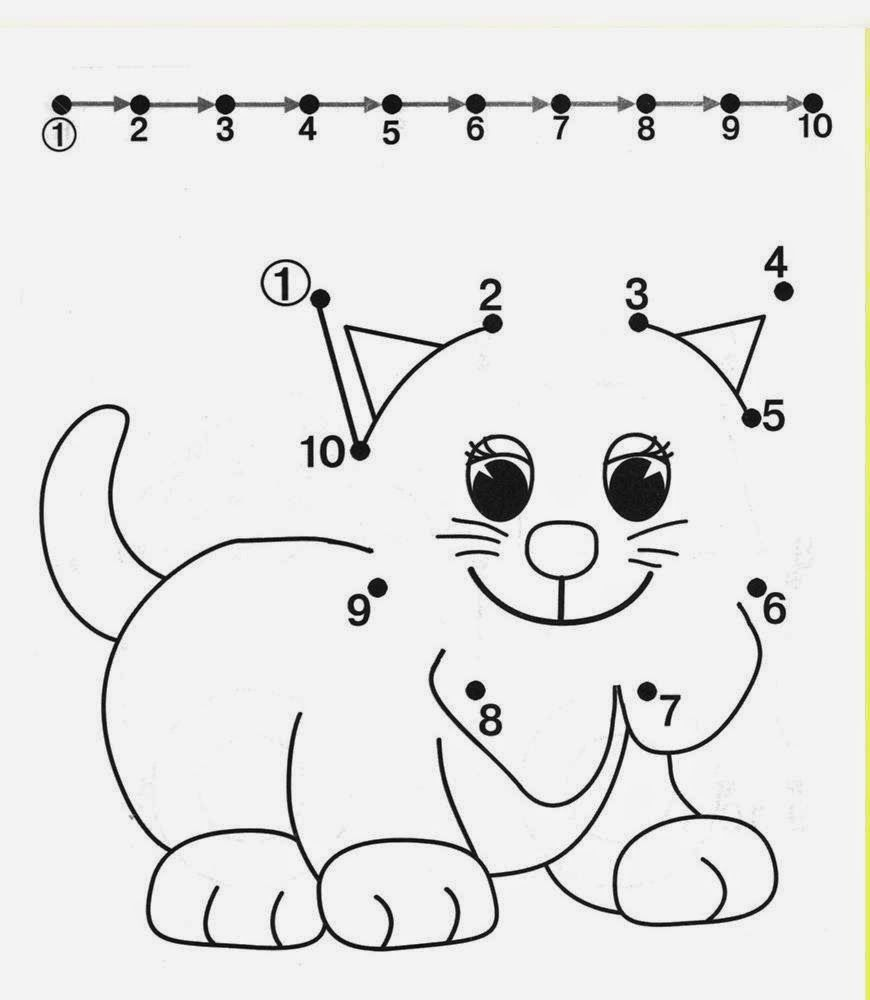 Free Dot To Dot Worksheets For Kids Part 2 | Thema: De