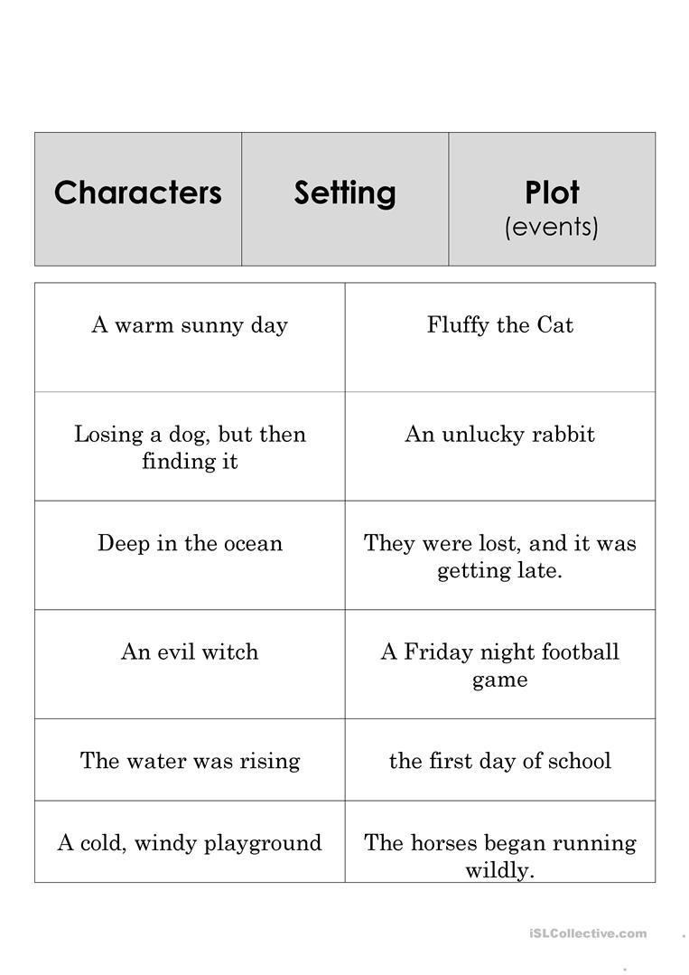 Story Element Set - English Esl Worksheets