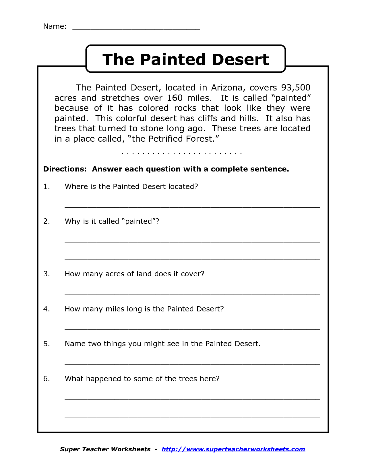 Reading Worksheets For 4th Grade | Reading Comprehension