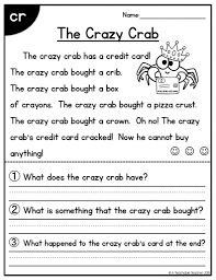 First Grade Reading Worksheets Free Report Templates 1st Printable