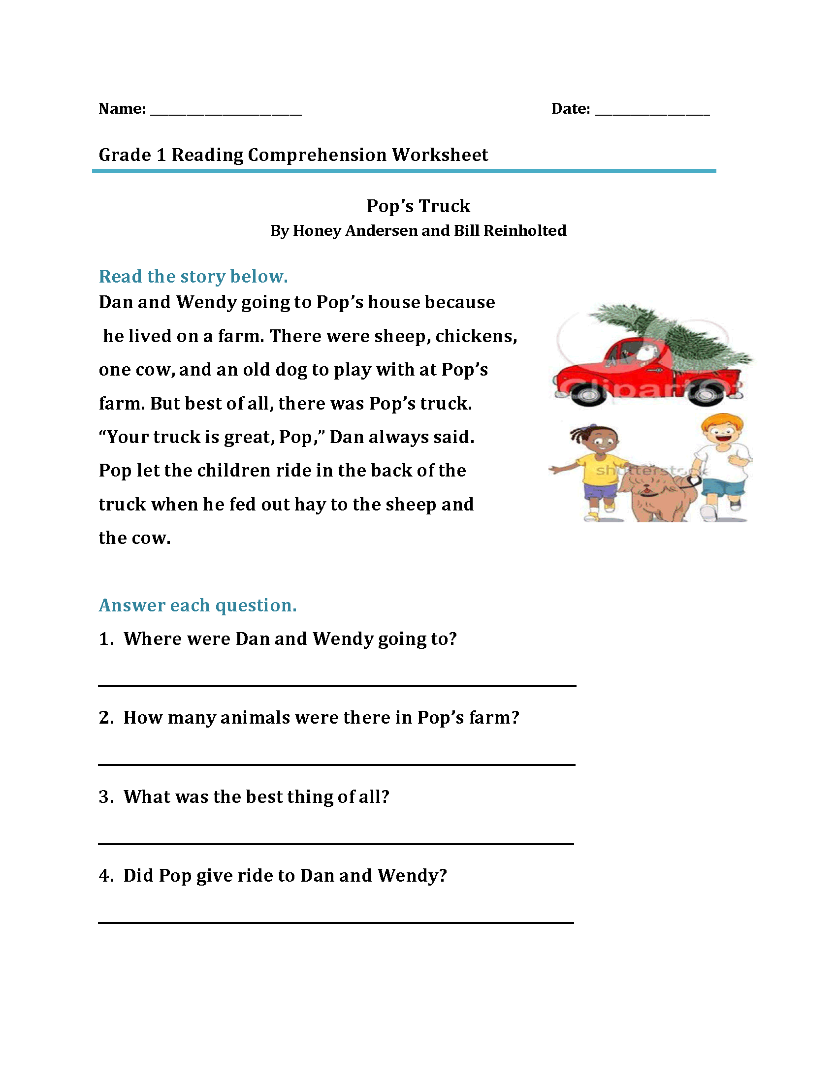 1st Grade Reading Worksheets - Best Coloring Pages For Kids