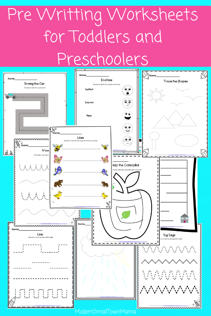 Pre Writing Worksheets For Toddlers And Preschoolers