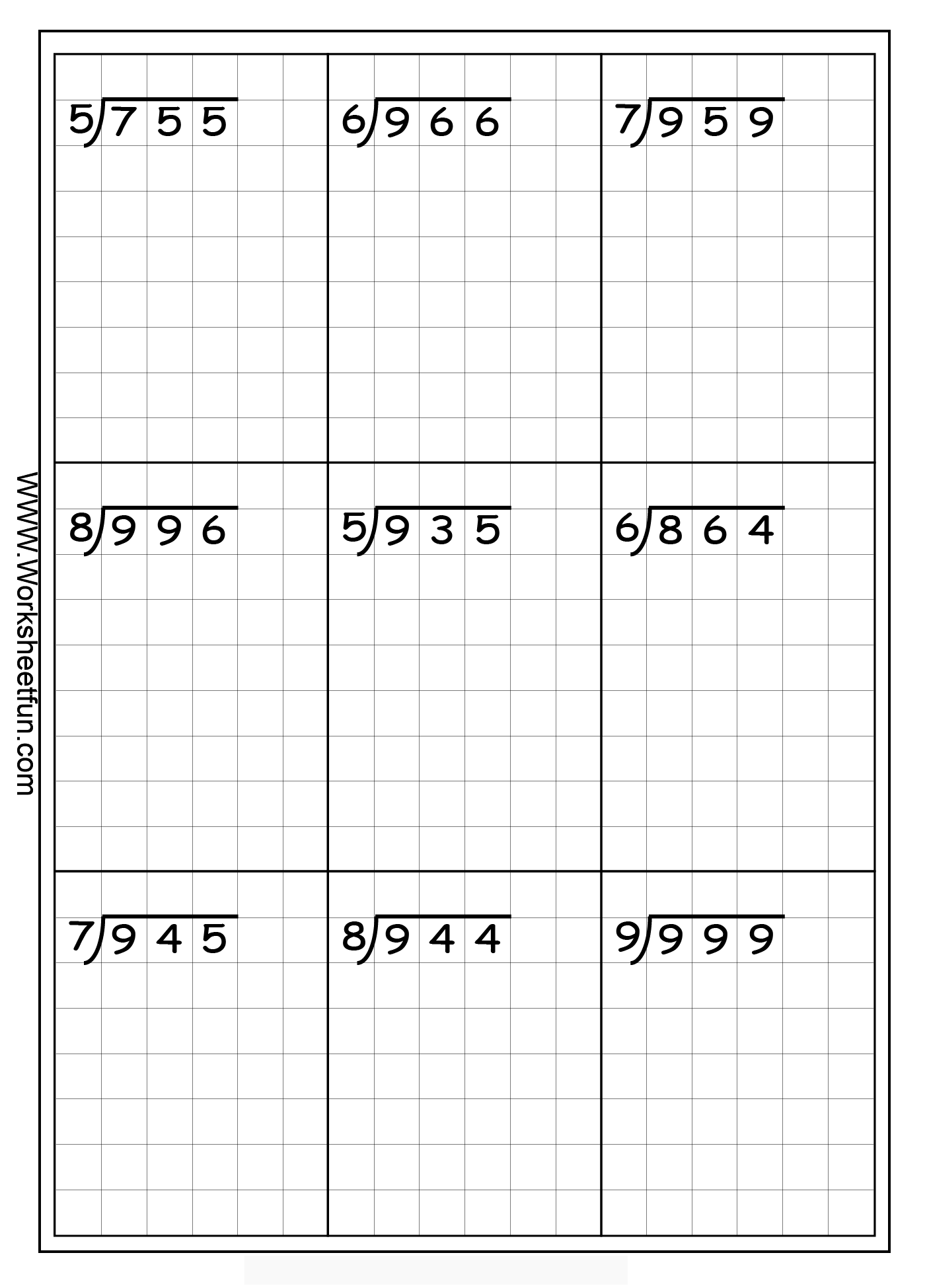 Long Division Free Worksheets | Math Division, Math