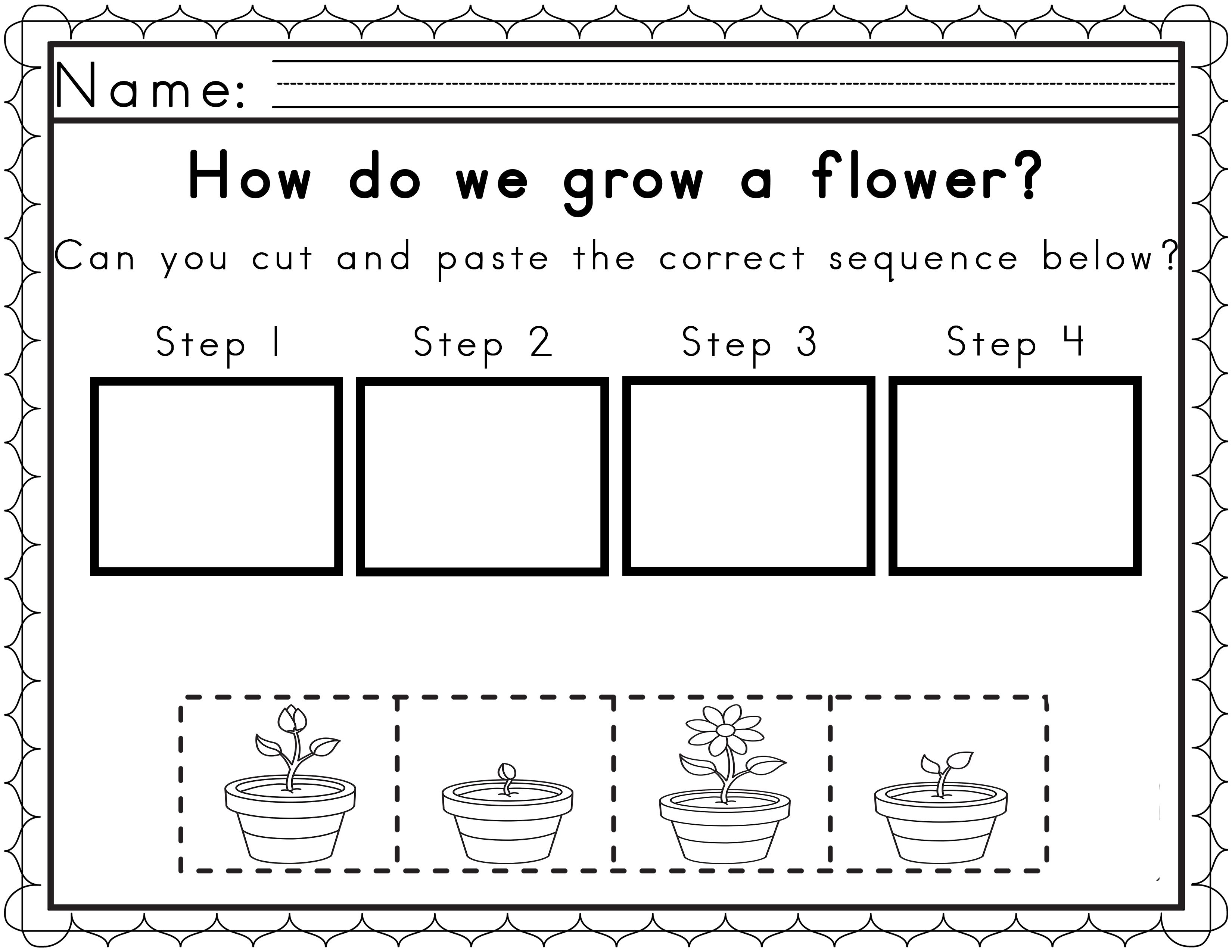 Worksheets For Sequencing In Spring | Sequencing Worksheets