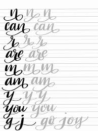 Free Calligraphy Worksheets To Educations Free Calligraphy