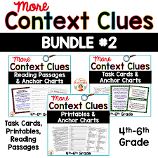 Context Clues Passages, Worksheets, And Task Cards Bundle For 4th, 5th, And  6th Grade