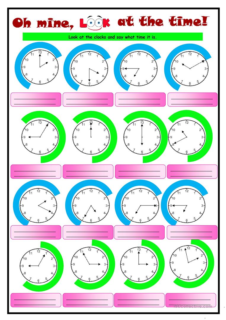 English Esl Telling The Time Worksheets - Most Downloaded