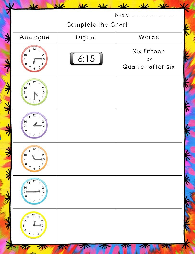 Time Worksheets: Hour, Half Hour, And Quarter Hour | English