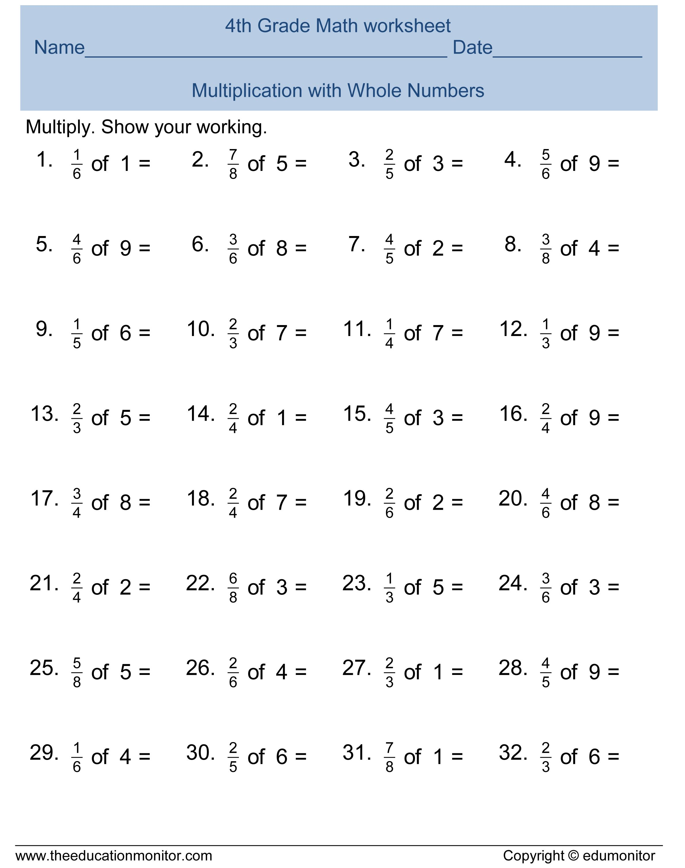 Image Result For Fractions Worksheets Grade 4 | 4th Grade